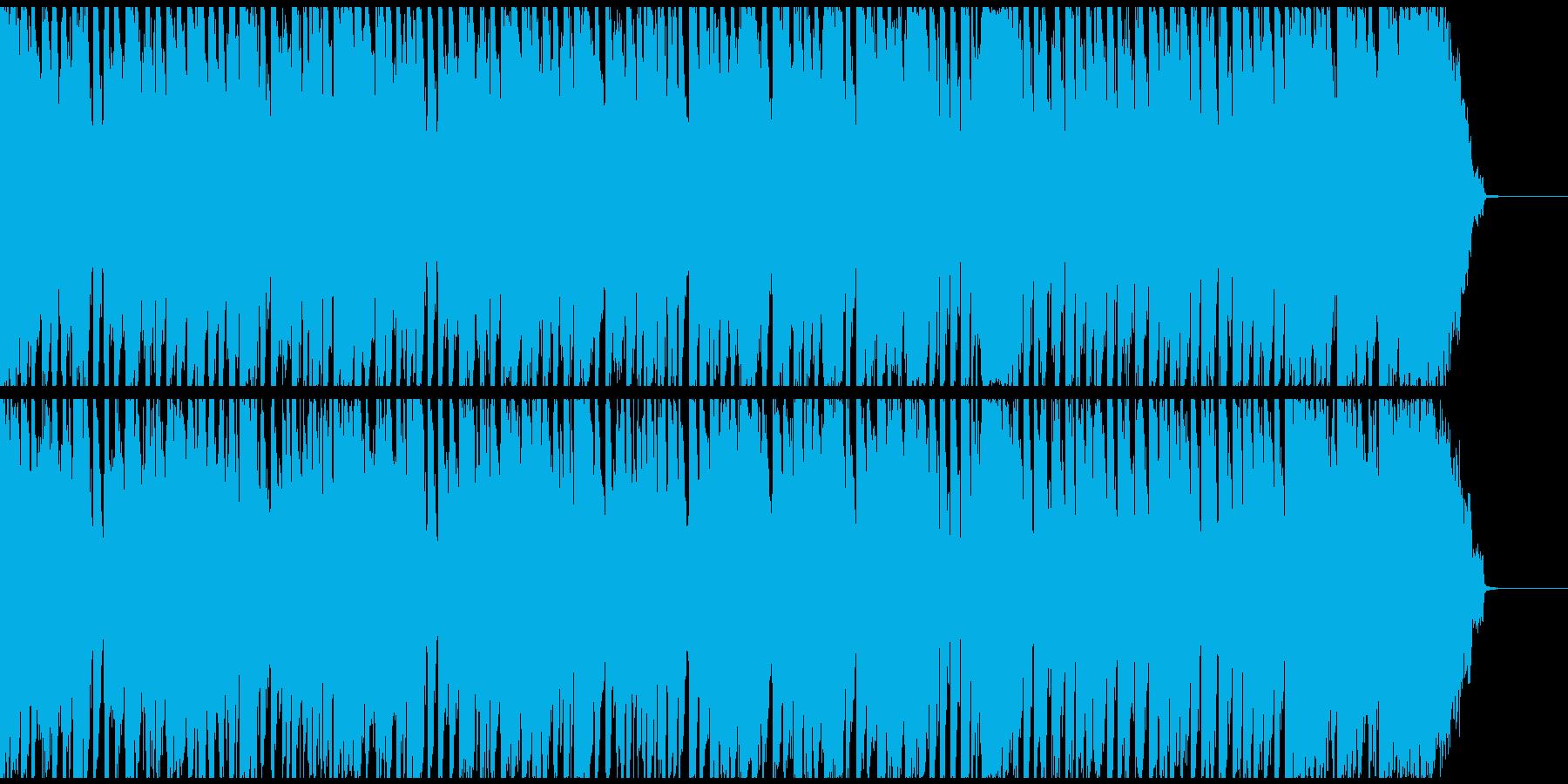 番組オープニング風の少しゆるい楽しい曲の再生済みの波形
