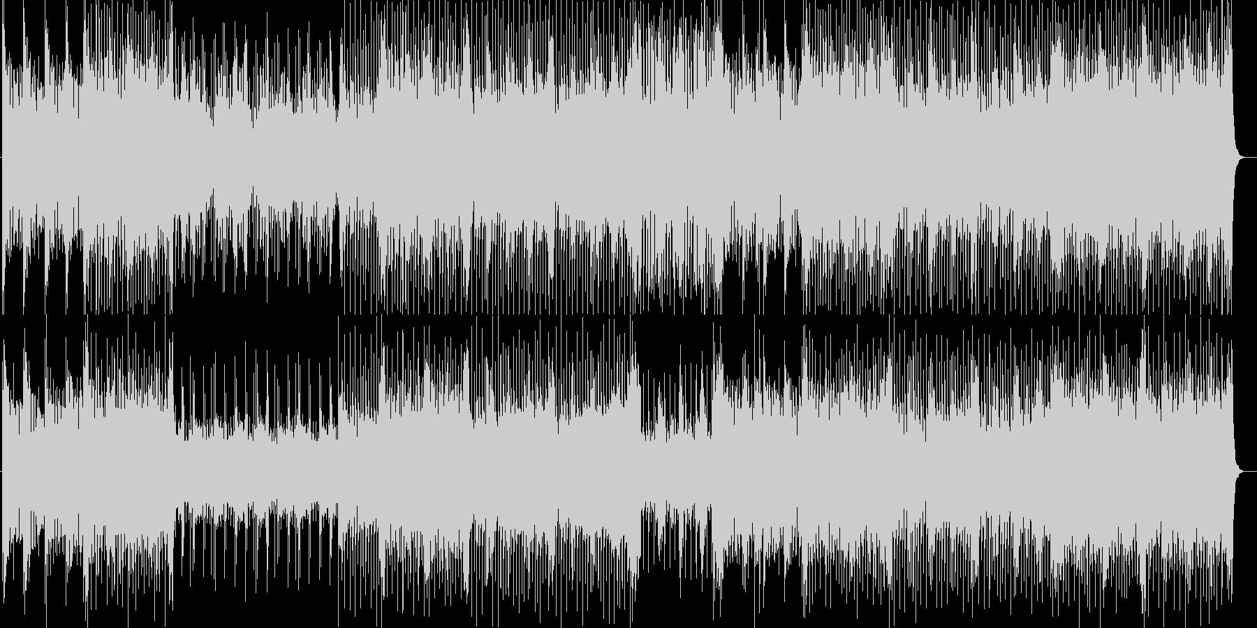 軽やかなシンセサイザー曲の未再生の波形
