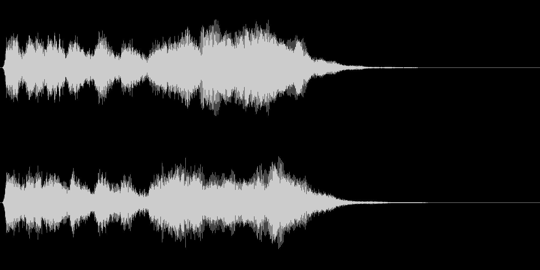 古風なファンファーレ・クエストクリアの未再生の波形