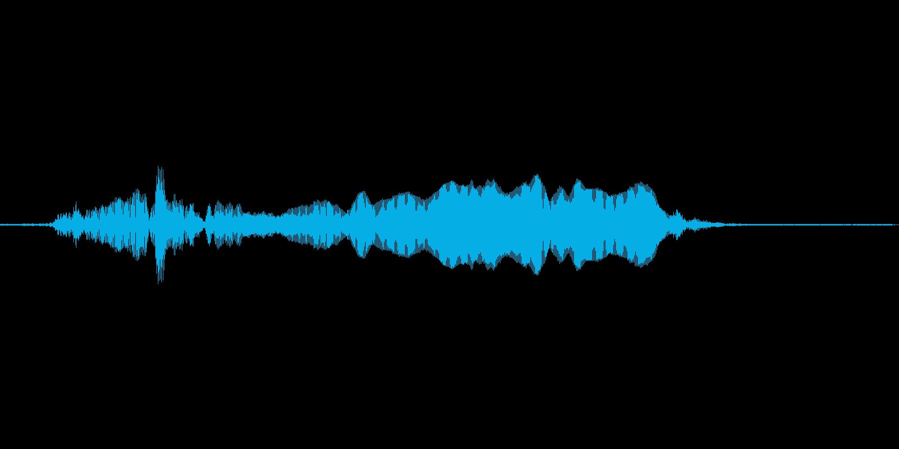 猫の鳴き声6の再生済みの波形