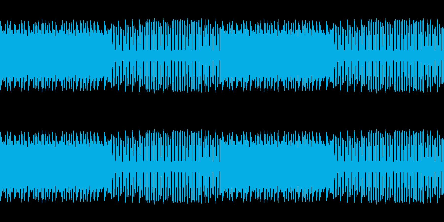 パズルゲームにぴったりなチップチューンの再生済みの波形