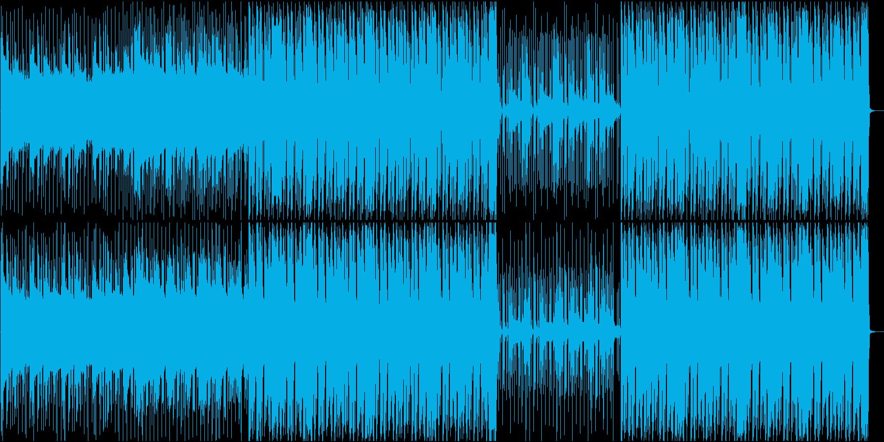 ビート感が強いピアノハウスの再生済みの波形