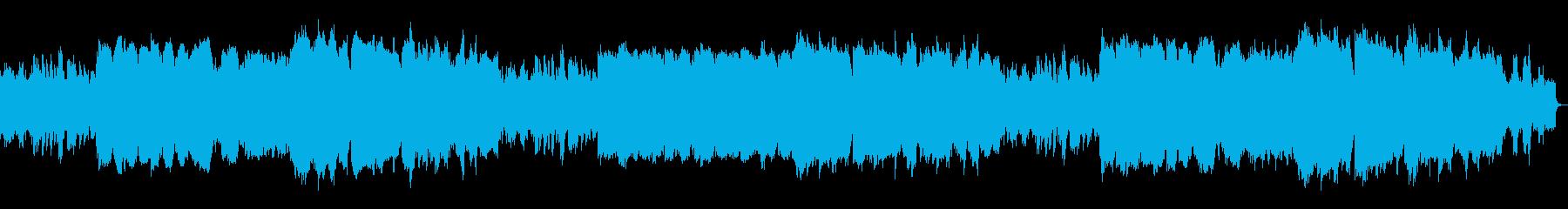 フルート、ピアノ中心の優しい子守唄ワルツの再生済みの波形