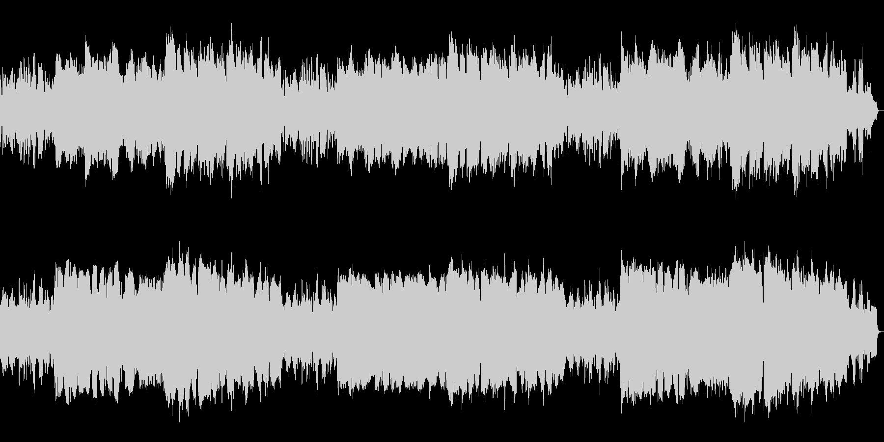 フルート、ピアノ中心の優しい子守唄ワルツの未再生の波形