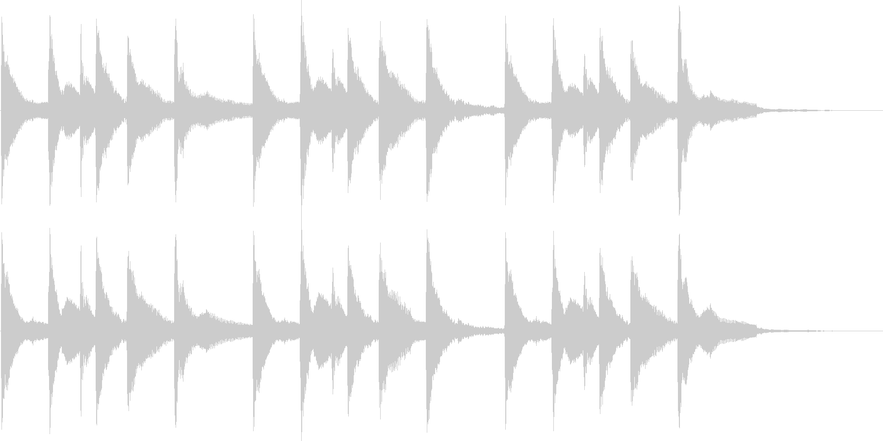 静かな雰囲気のピアノアンビエントの未再生の波形