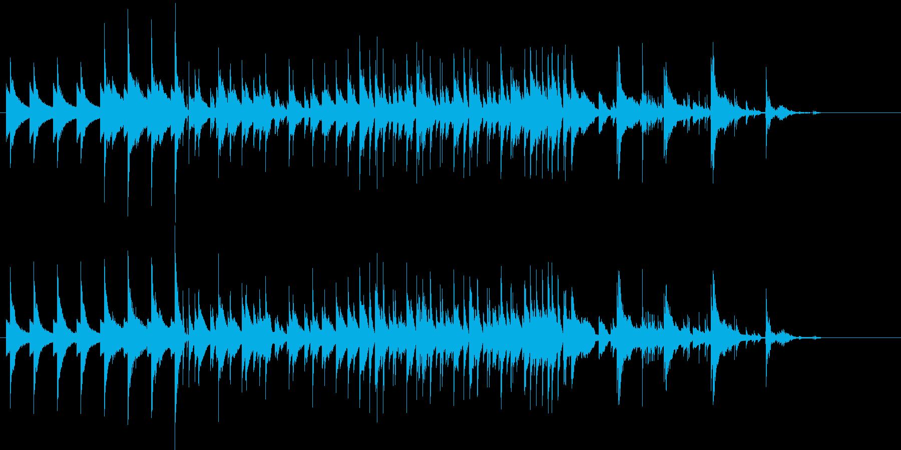 おしゃれな落ち着いたBGMの再生済みの波形