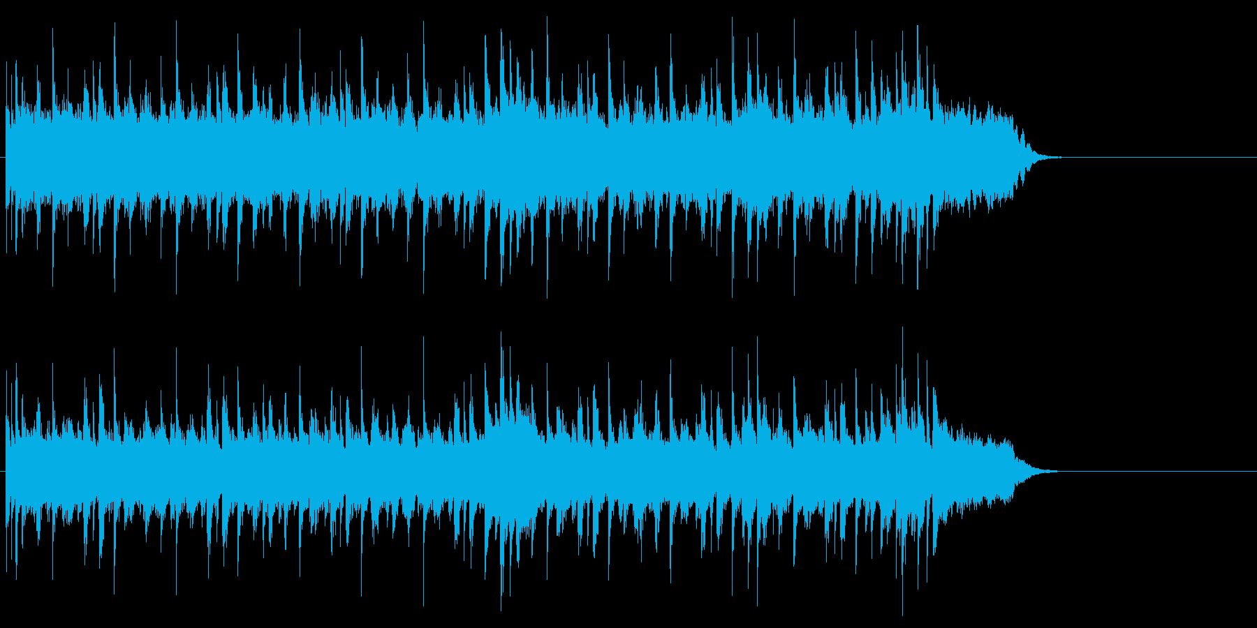 ゆったりしたエンド(イントロ~エンド)の再生済みの波形