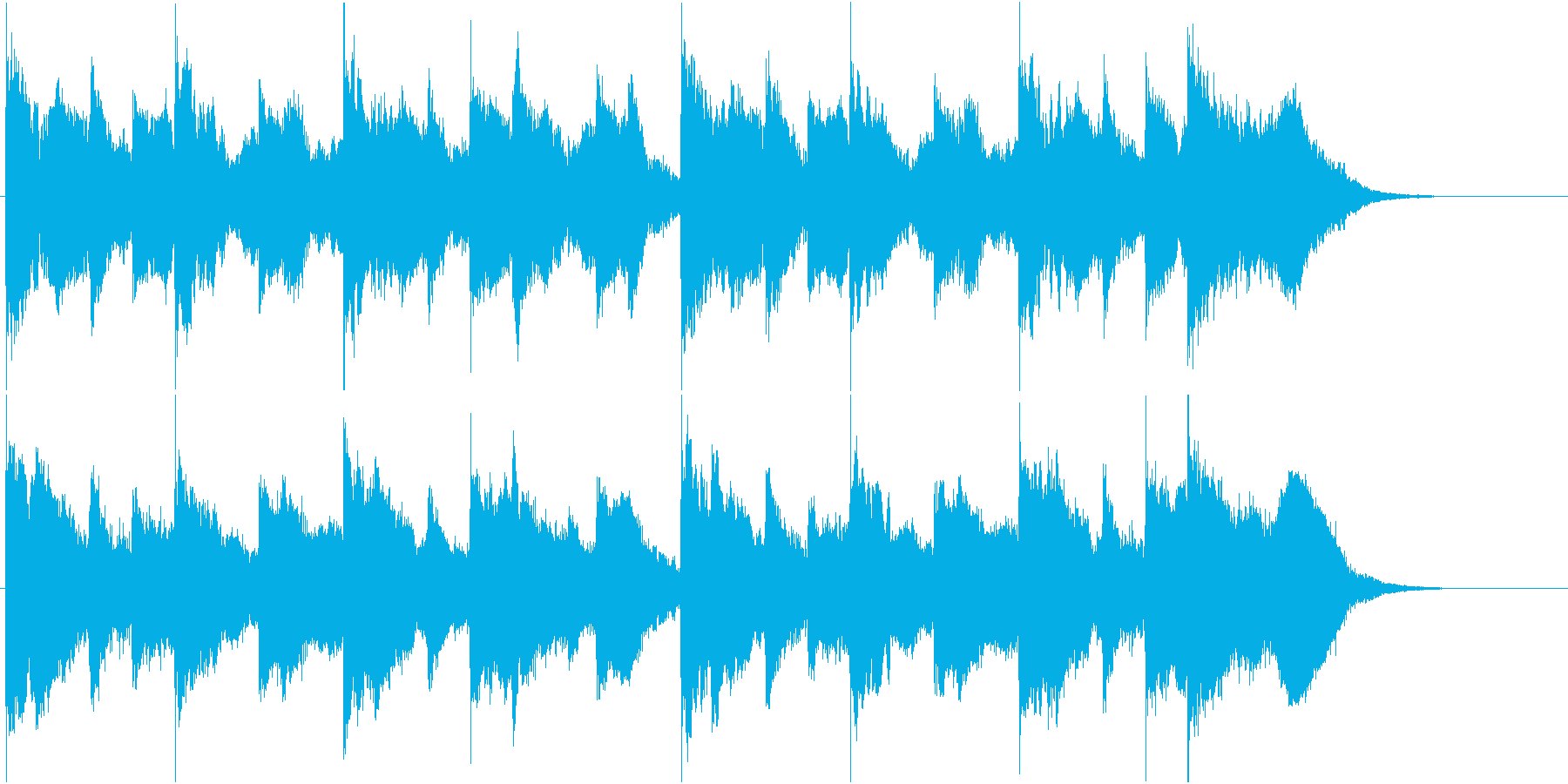 切ない雰囲気の曲の再生済みの波形