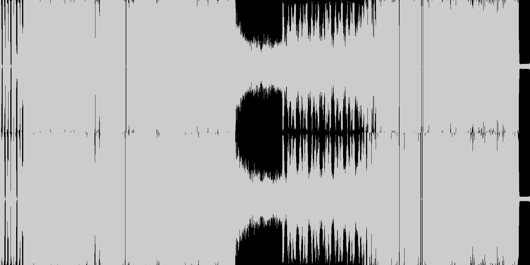 脳内を揺さぶるブレイクコアの未再生の波形
