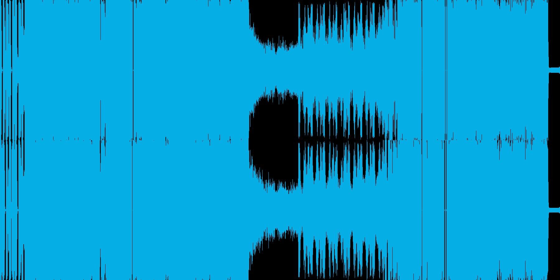 脳内を揺さぶるブレイクコアの再生済みの波形