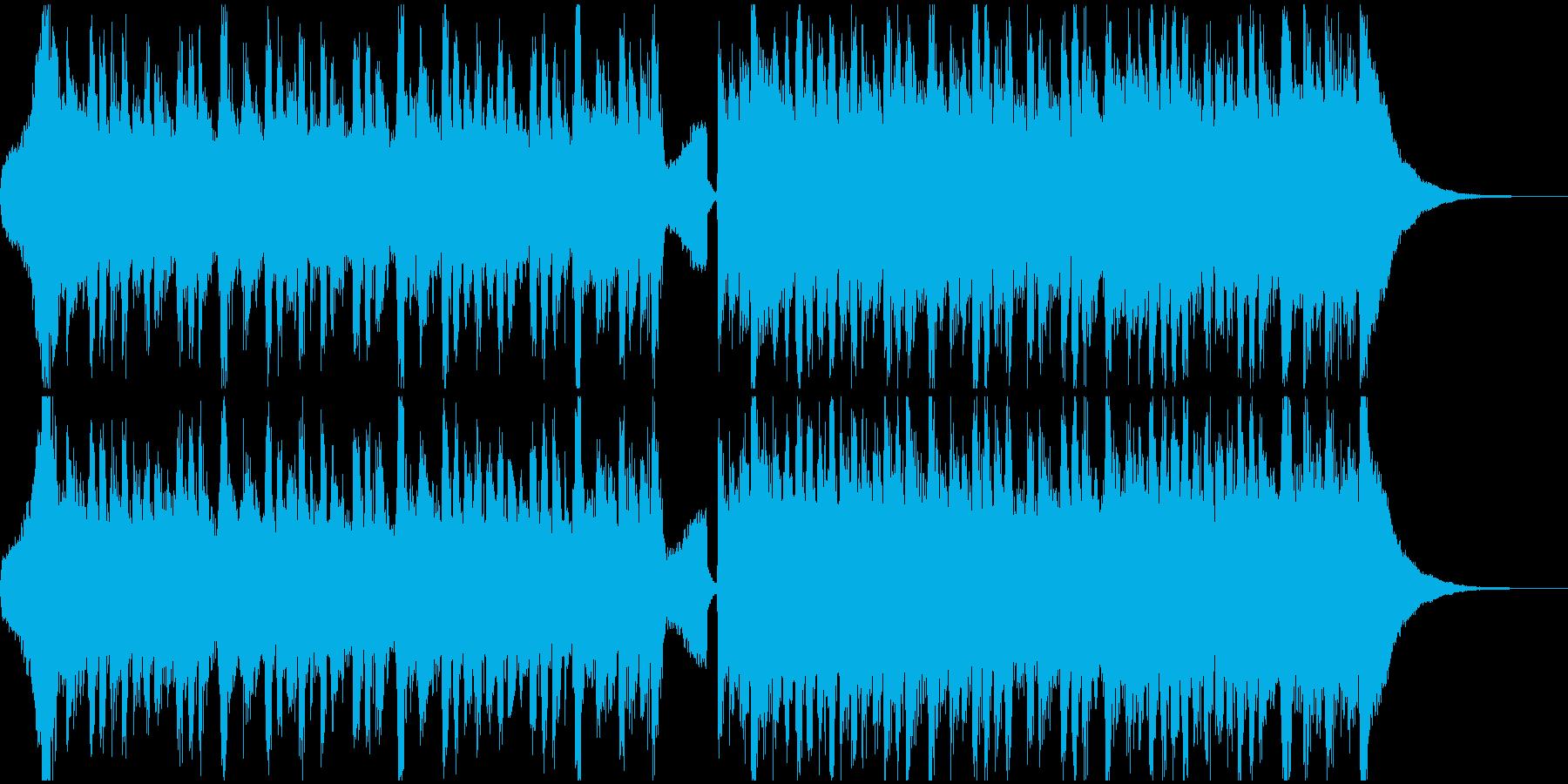 ギターとピアノの爽やかなポップスの再生済みの波形