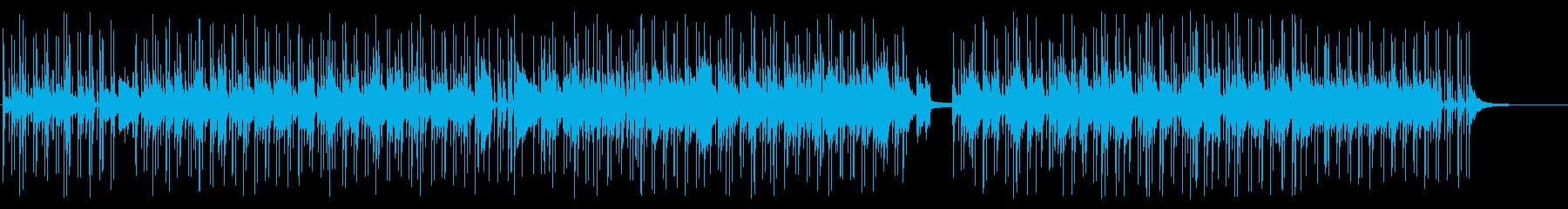 穏やかなアコースティックギターのボサノバの再生済みの波形