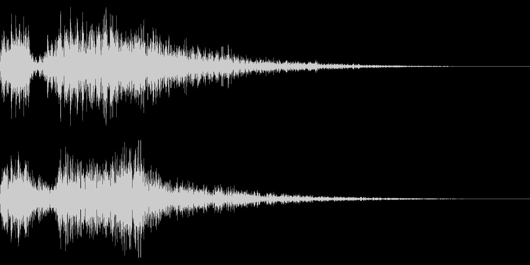 レトロ風な短めゲームオーバー音 ミス音の未再生の波形