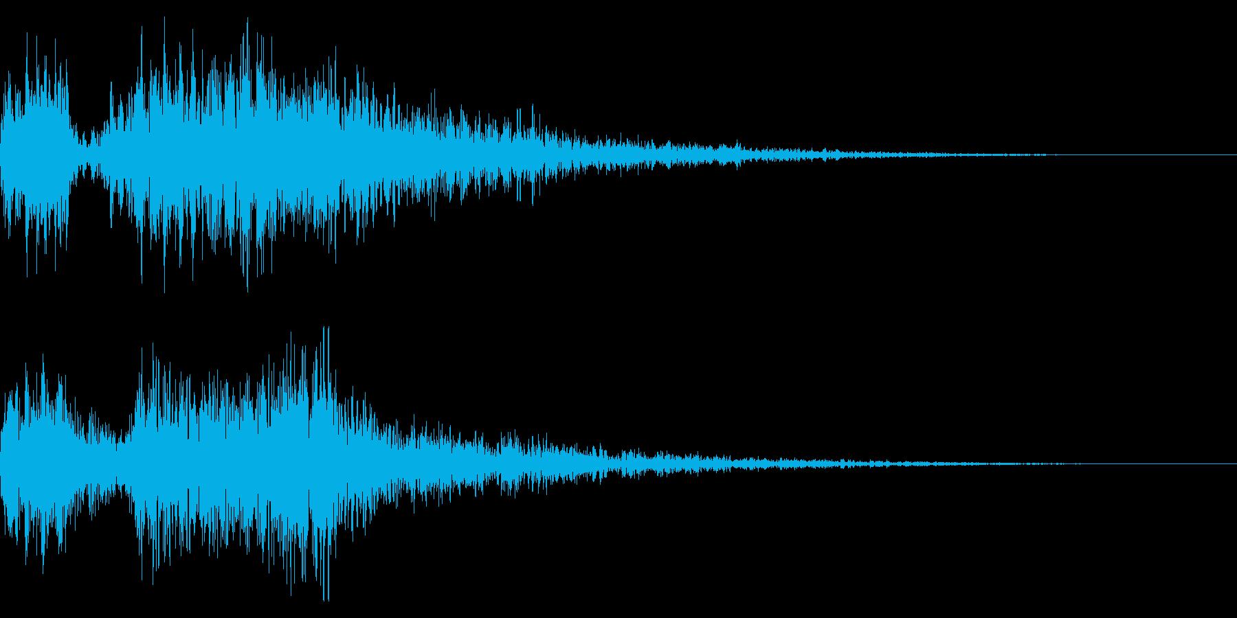 レトロ風な短めゲームオーバー音 ミス音の再生済みの波形
