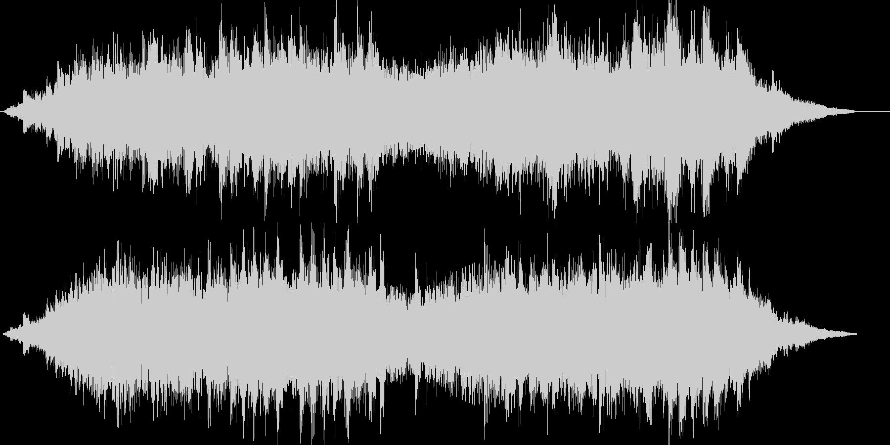 キラキラしたバラードの未再生の波形