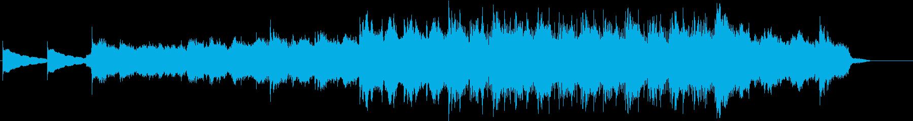 怖い雰囲気の曲の再生済みの波形