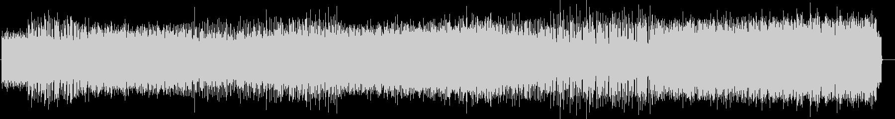 コミカルな電子音テクノ風サウンドの未再生の波形