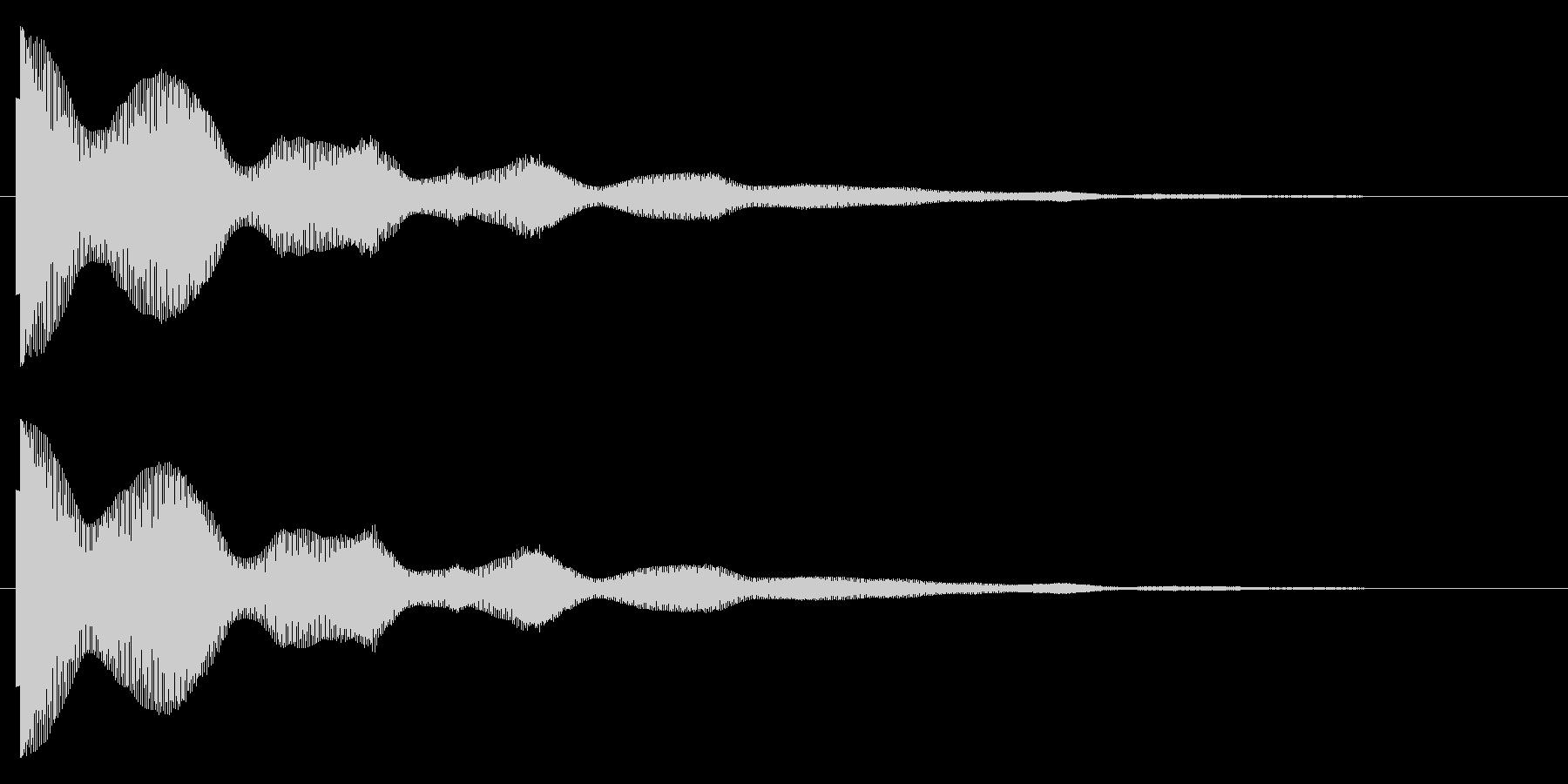 ポオーーンの未再生の波形