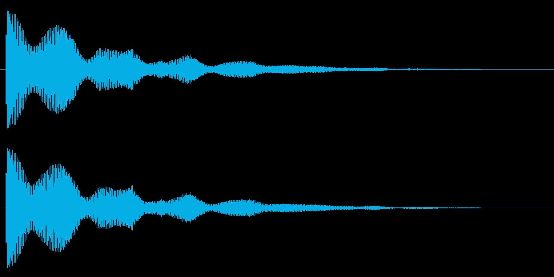 ポオーーンの再生済みの波形