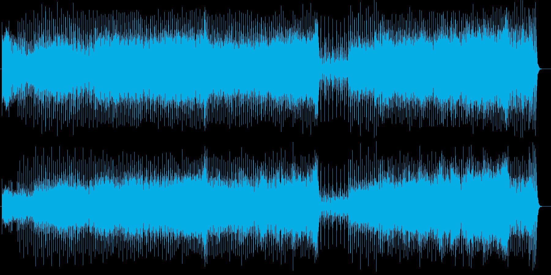 ダークで物悲しいミュージックの再生済みの波形