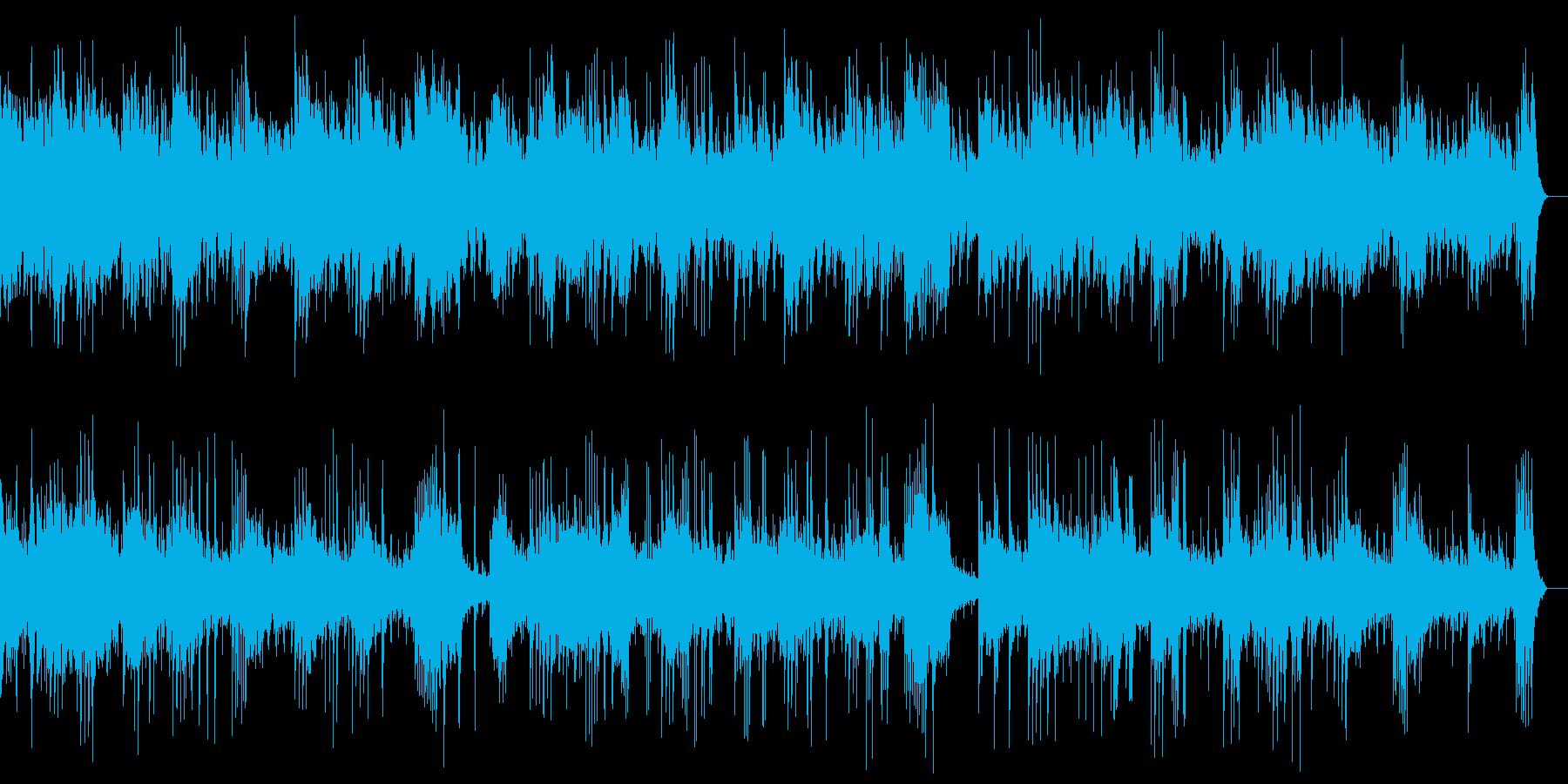 ピアノとシンセのアンビエントの再生済みの波形