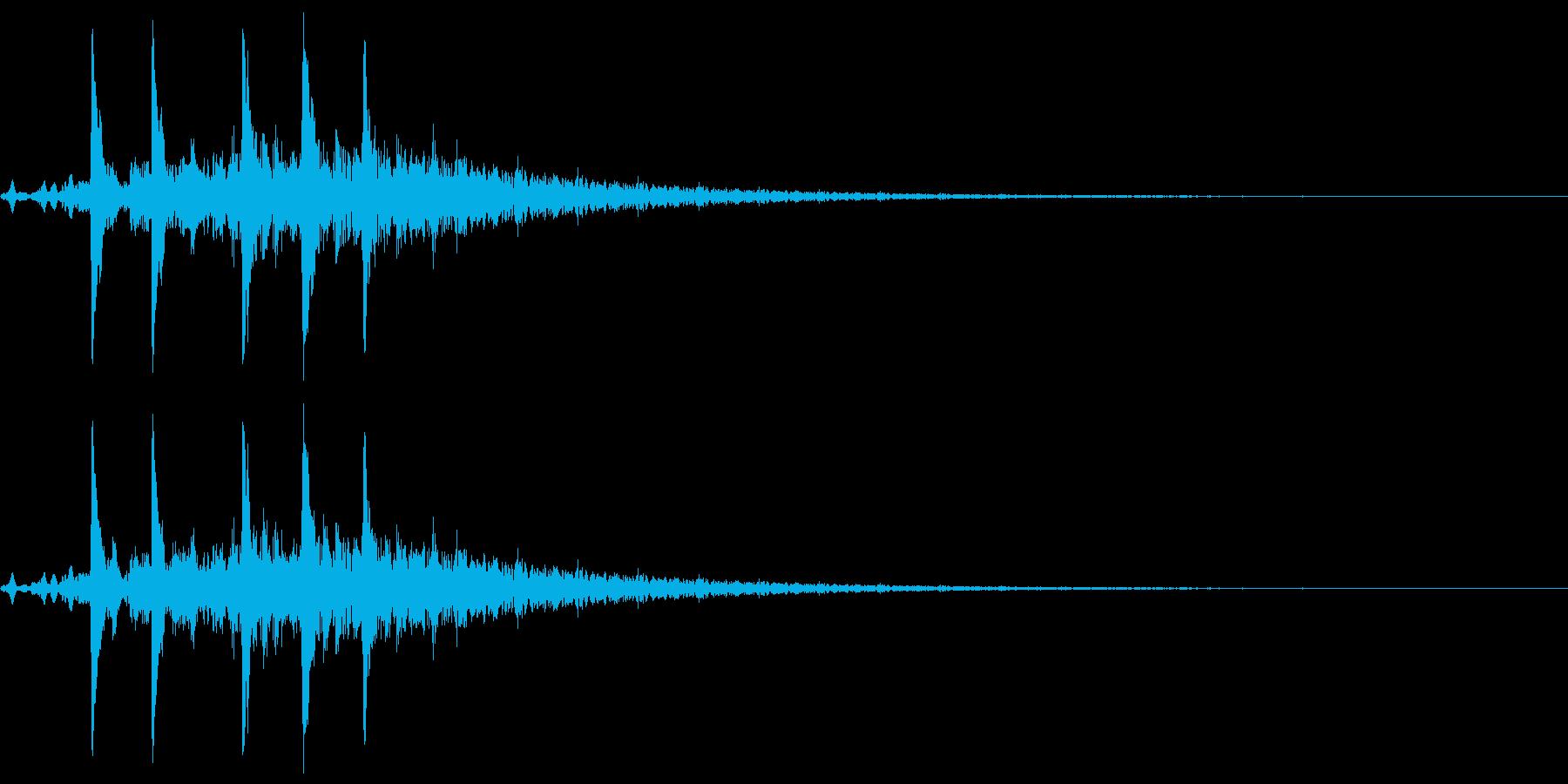 効果音 ブクブク 水の中への再生済みの波形