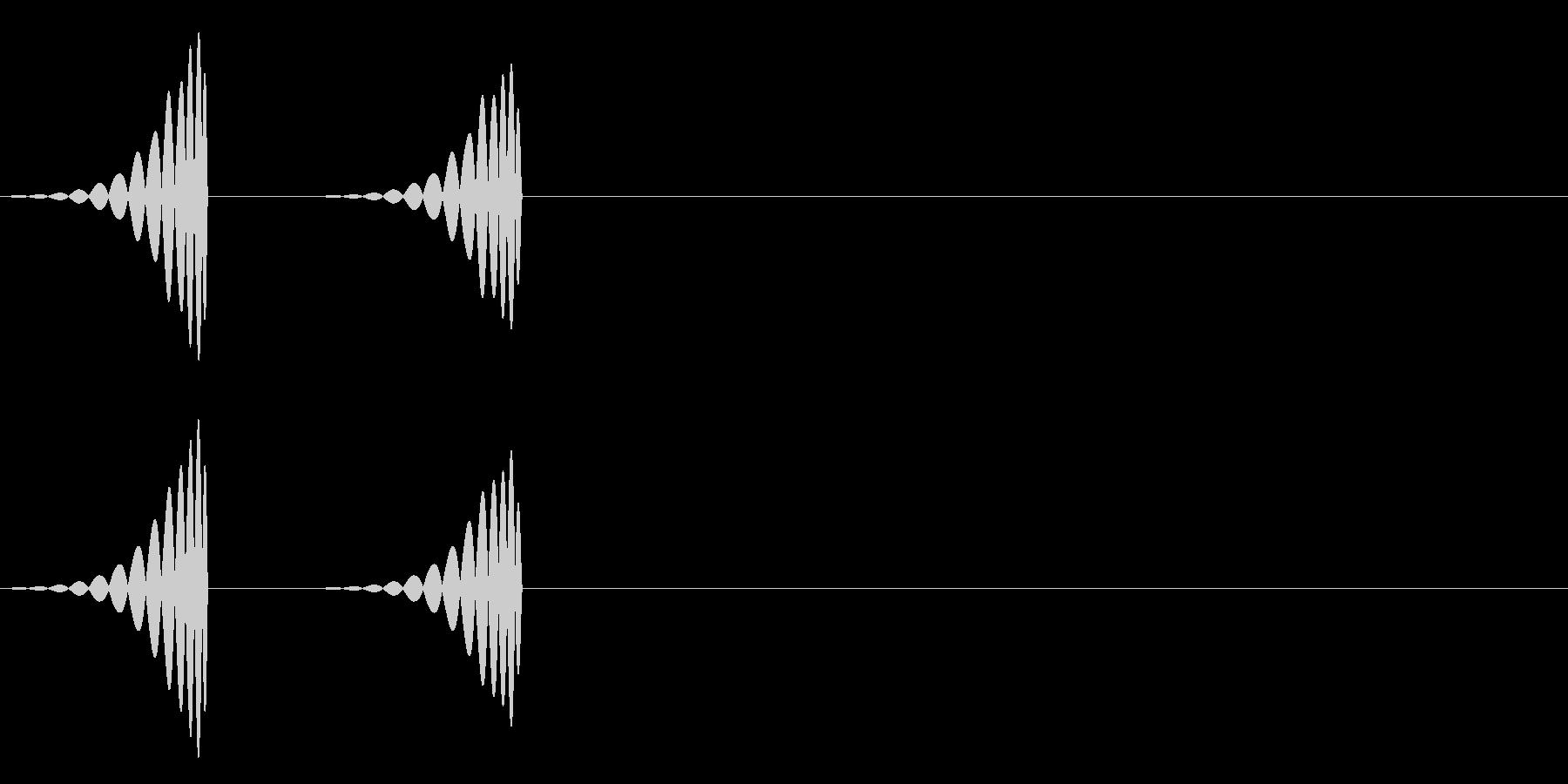 心臓の音の未再生の波形