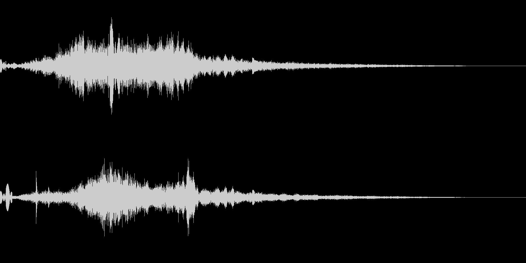 シュワー(起動音・企業サウンドロゴ)の未再生の波形