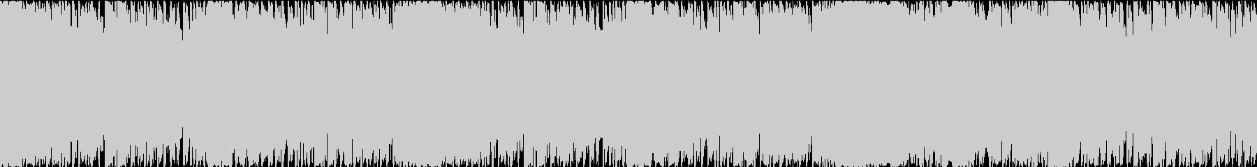 疾走感のあるループBGM(和風+ロック)の未再生の波形