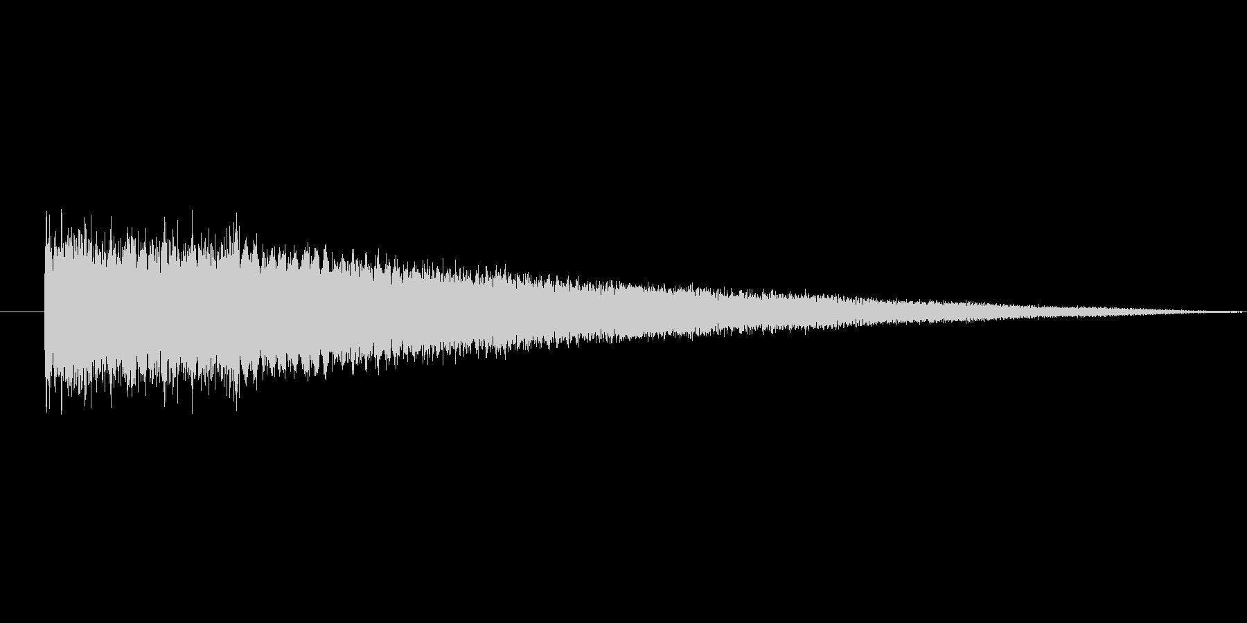 暗い場所で響くイメージの金属音の未再生の波形