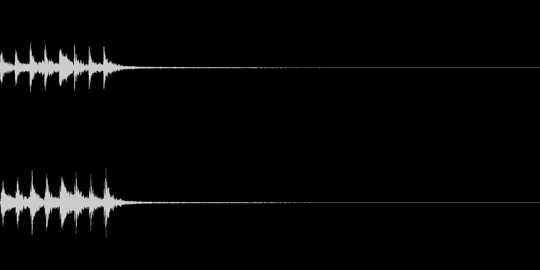 上昇音 木琴 場面転換等にの未再生の波形