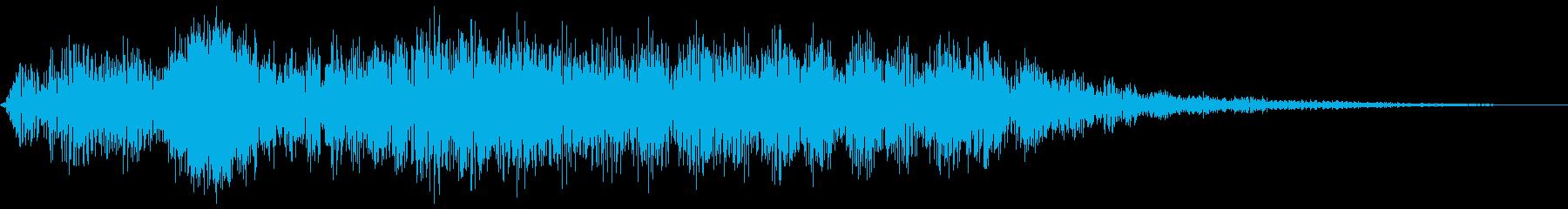 不気味なモンスターのうめき声低音・長めの再生済みの波形