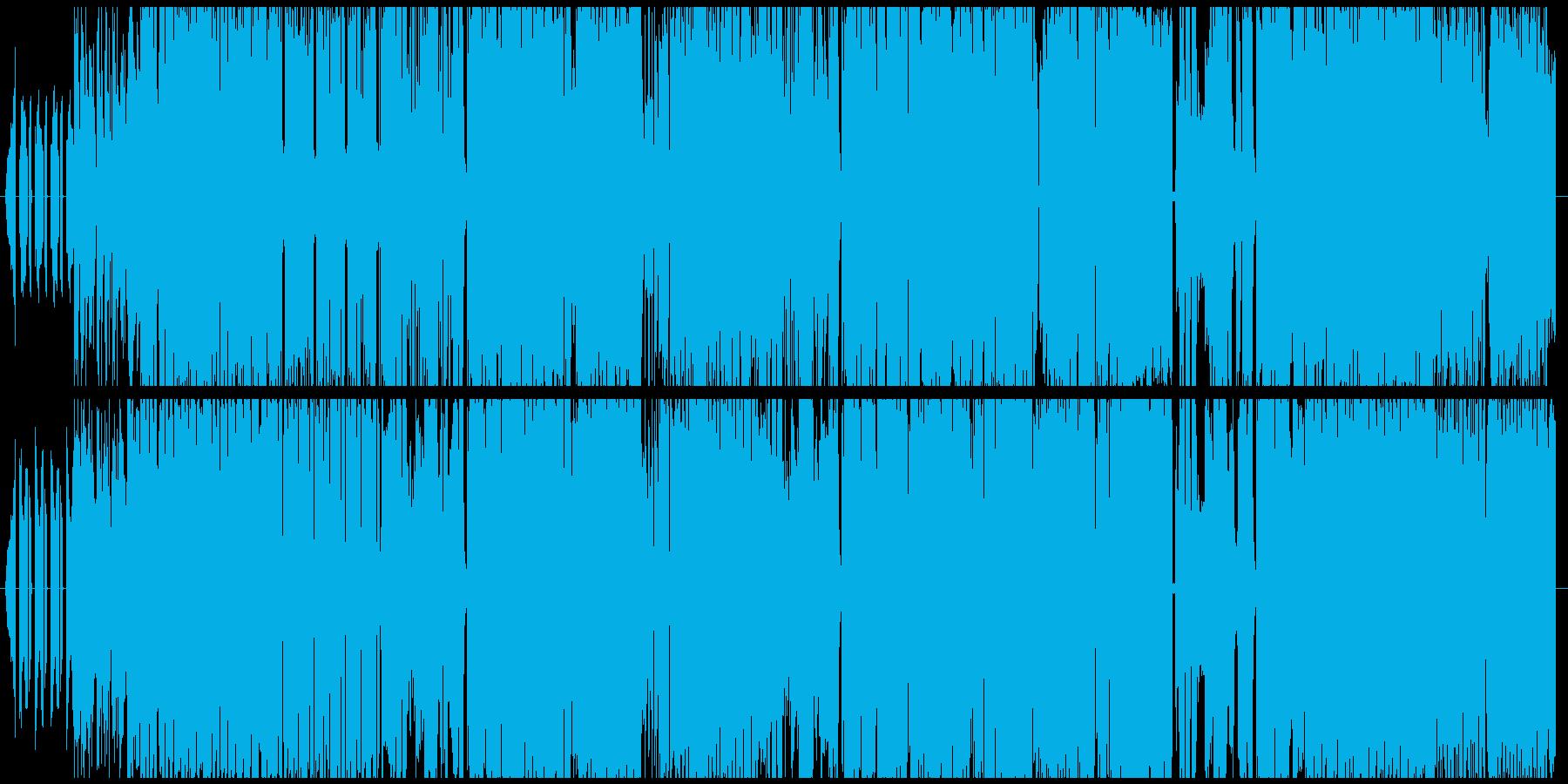 和系デジタルテクノロック 勝負のシーンの再生済みの波形