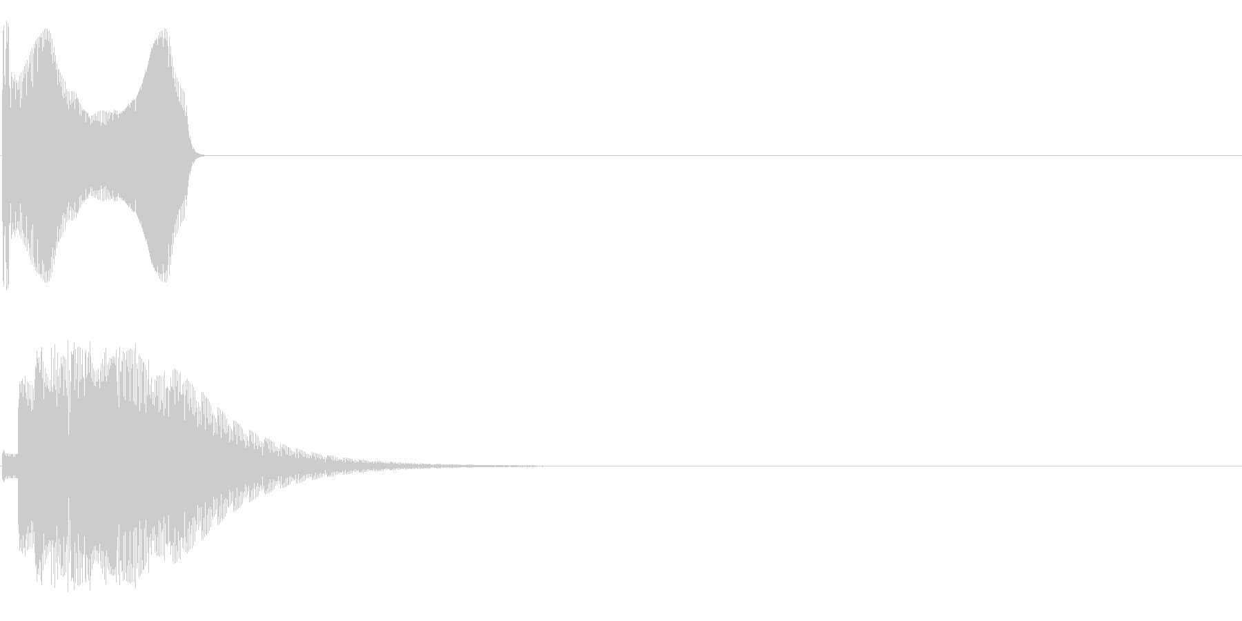 ップィンの未再生の波形