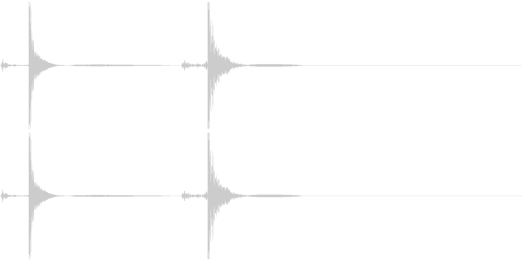 包丁で食材を切る音(二回)の未再生の波形