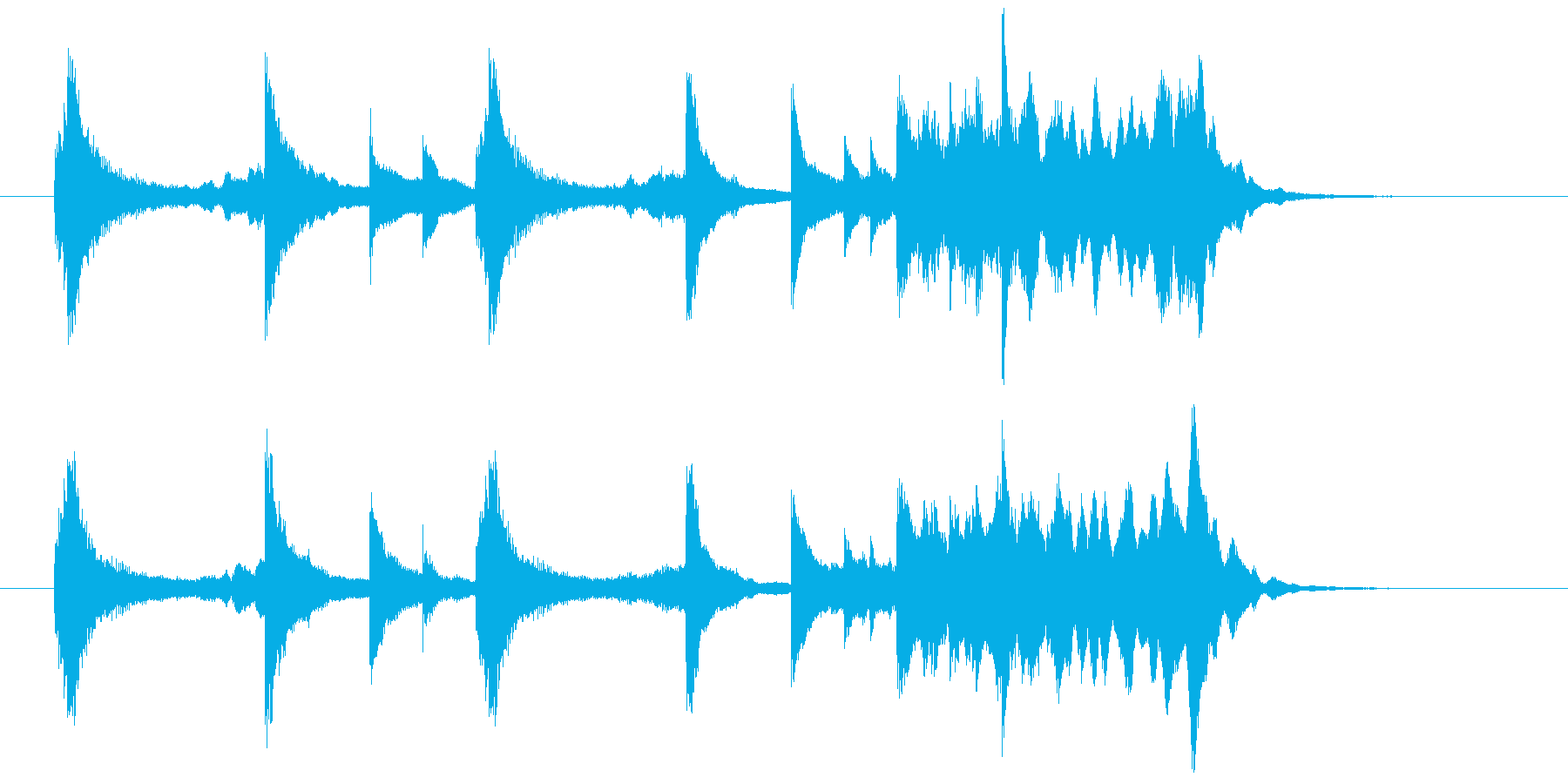 琴・ピアノを使った和風のアテンション2の再生済みの波形