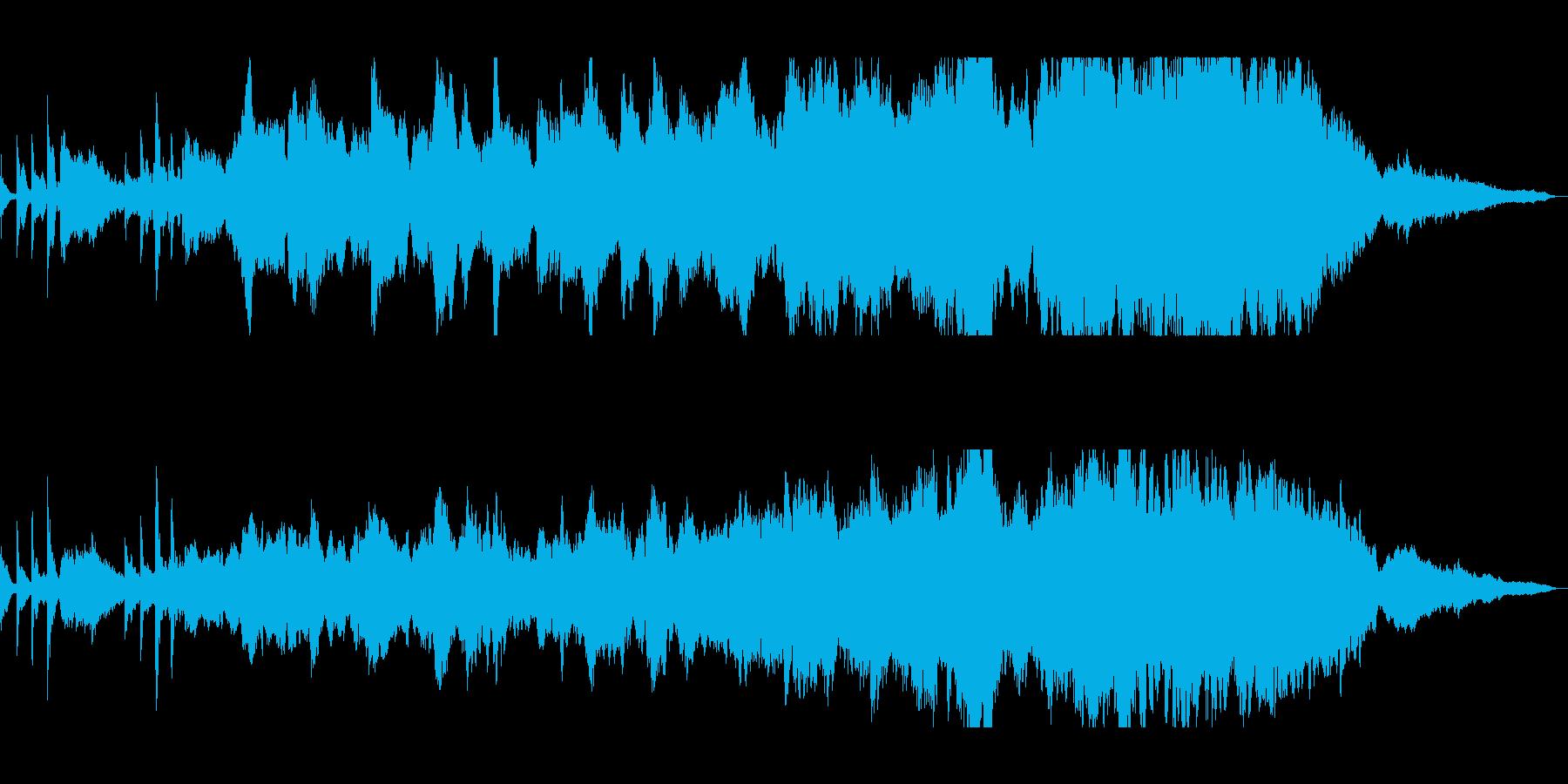 静かで滑らかな歴史あるピアノの曲の再生済みの波形