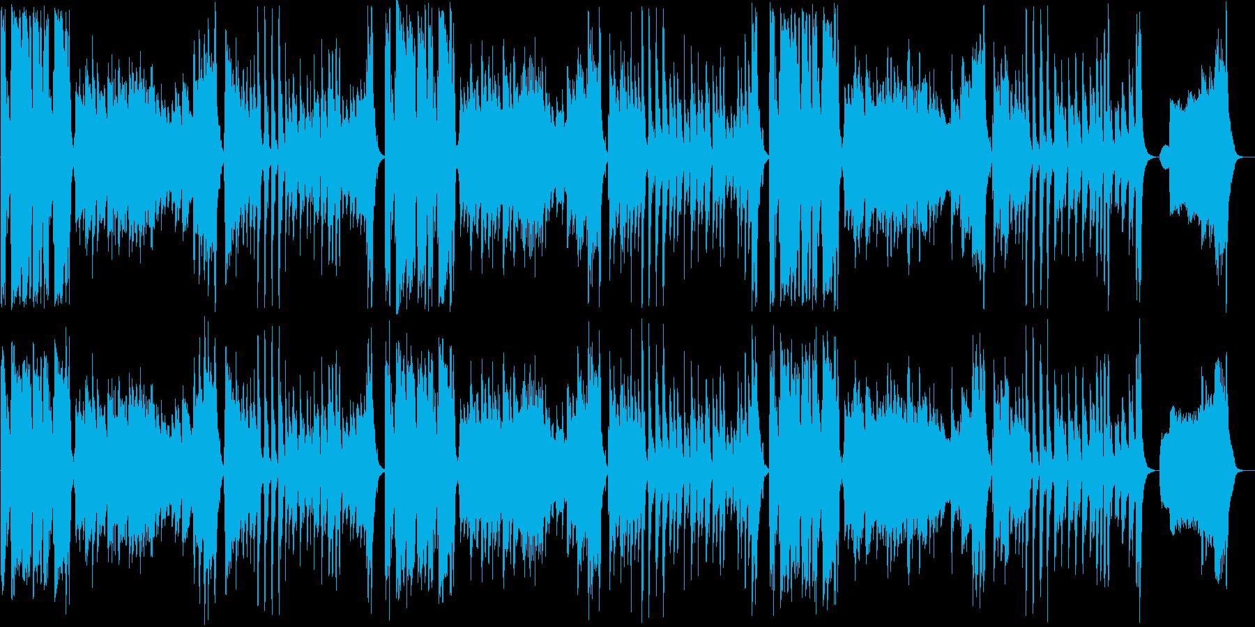 明るく軽やかなアナウンス用ポップスの再生済みの波形