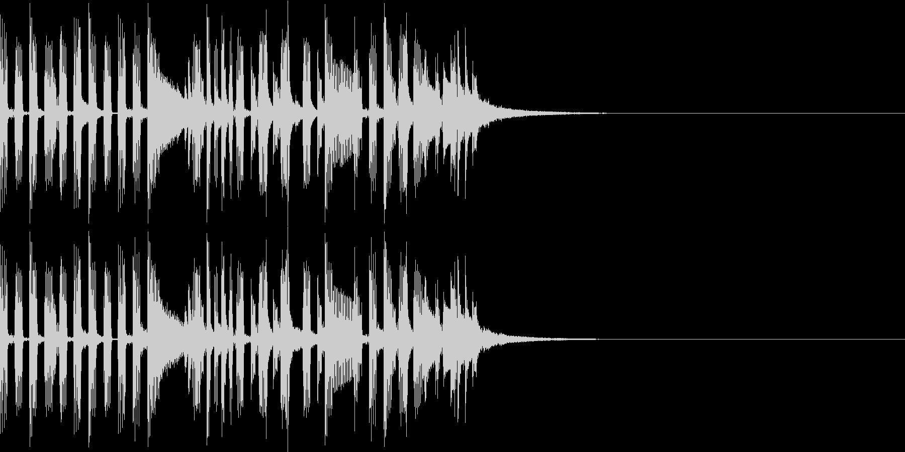 ちょっとしたドラムパターンの未再生の波形