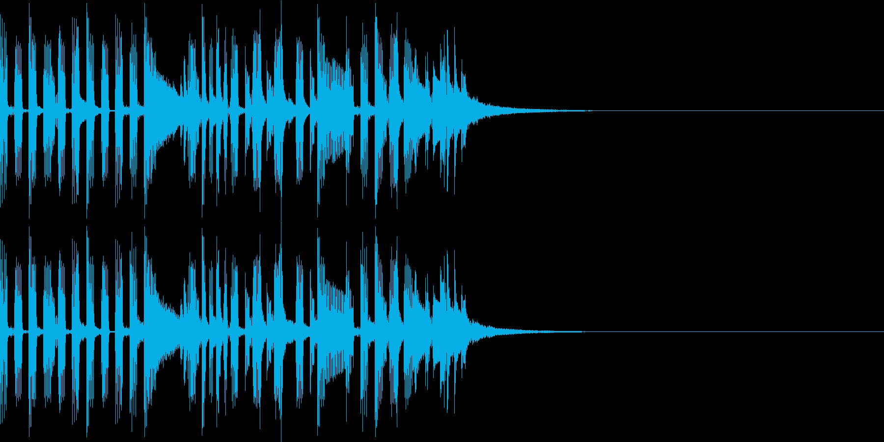 ちょっとしたドラムパターンの再生済みの波形
