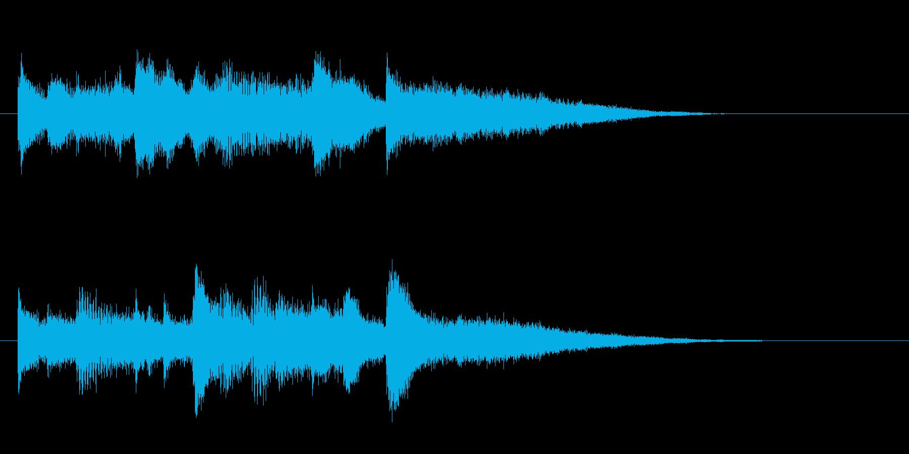 哀しいピアノのジングルの再生済みの波形