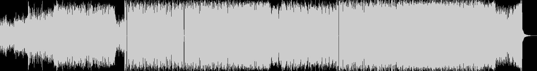 軽快なビートと重低音ベースリフの未再生の波形
