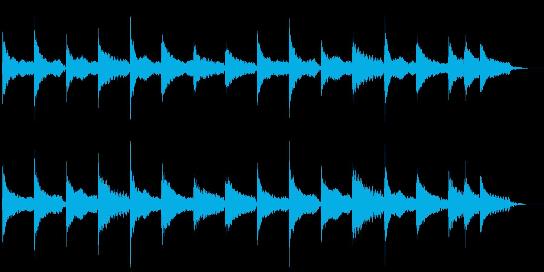 哀愁ただようアコギ&フルートの曲の再生済みの波形