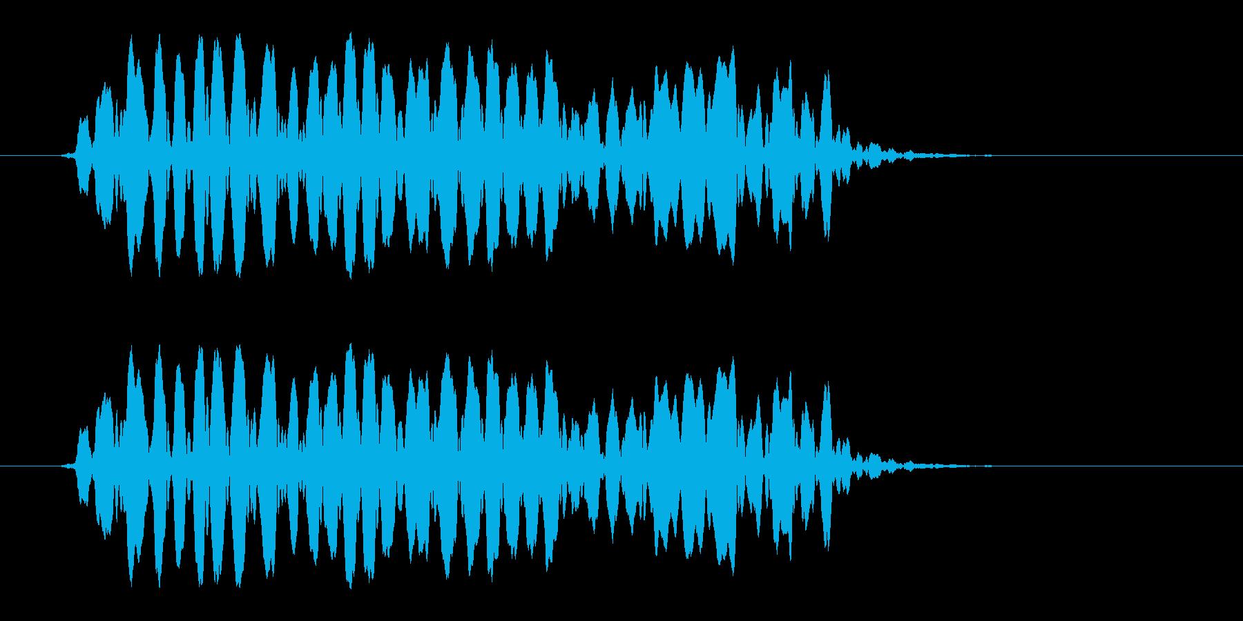 ホイッスルの音_07(ピーッ!)の再生済みの波形
