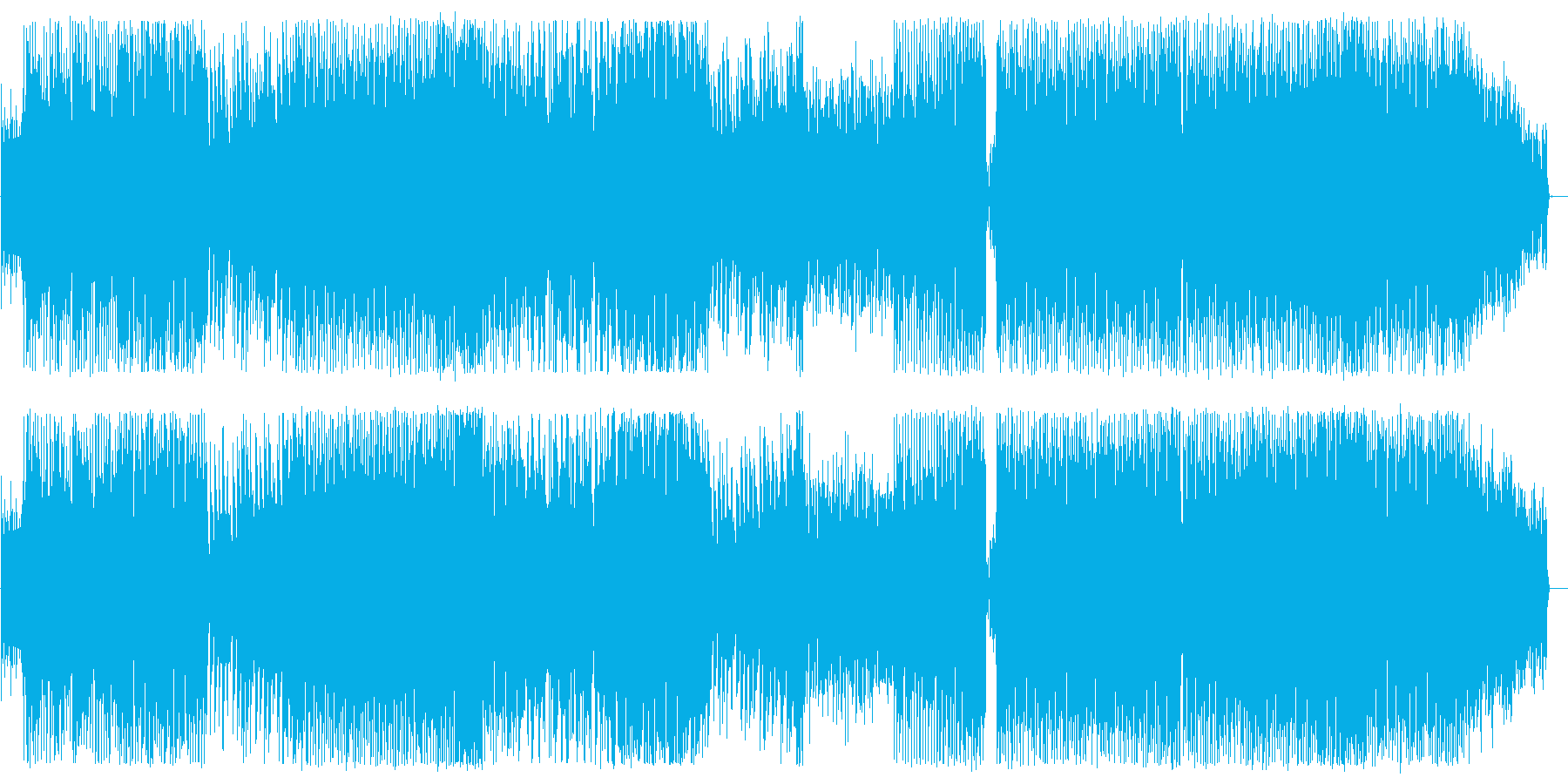 西部劇風味さすらいテクノサウンドの再生済みの波形