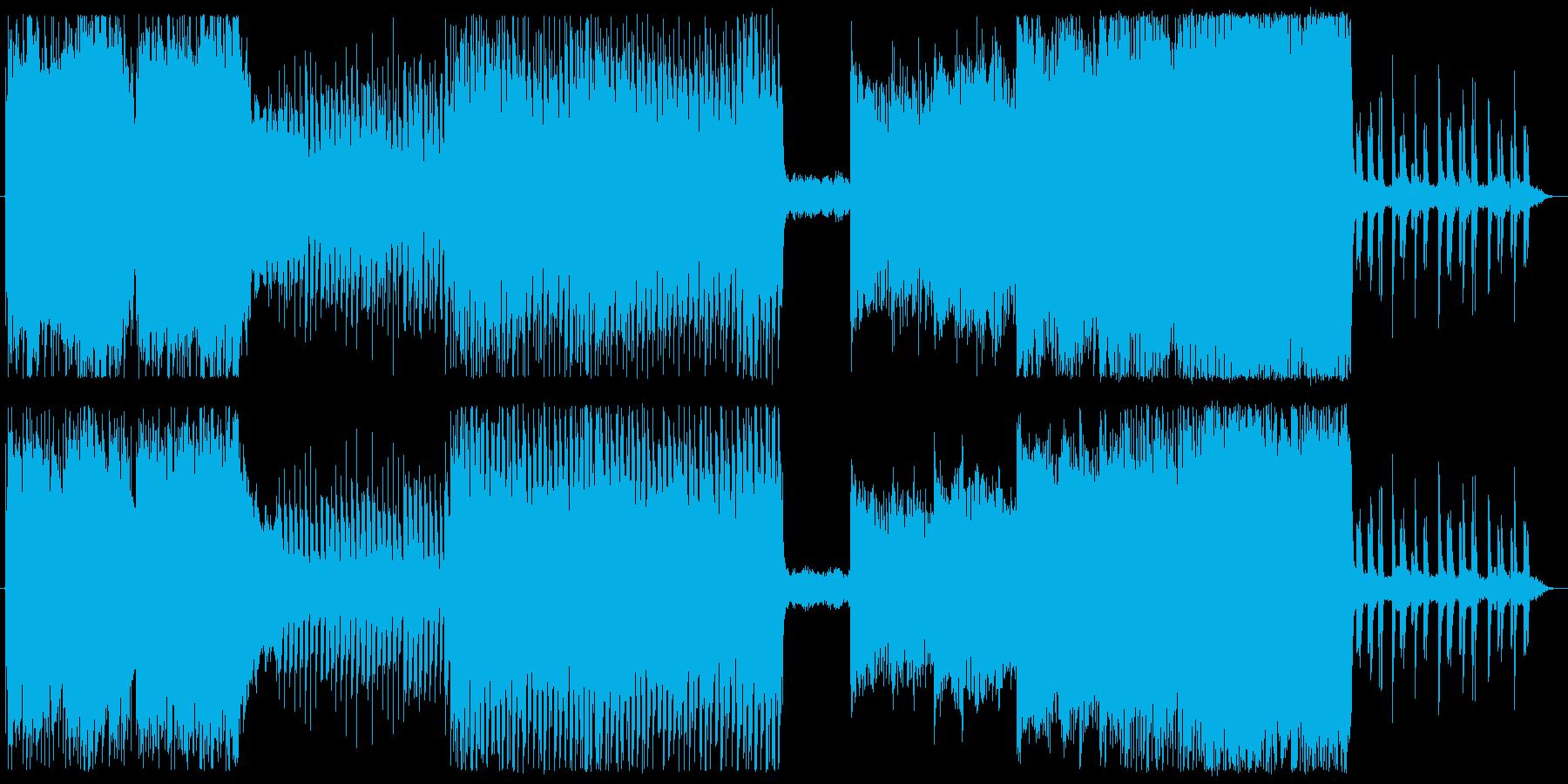 回想シーンの曲の再生済みの波形