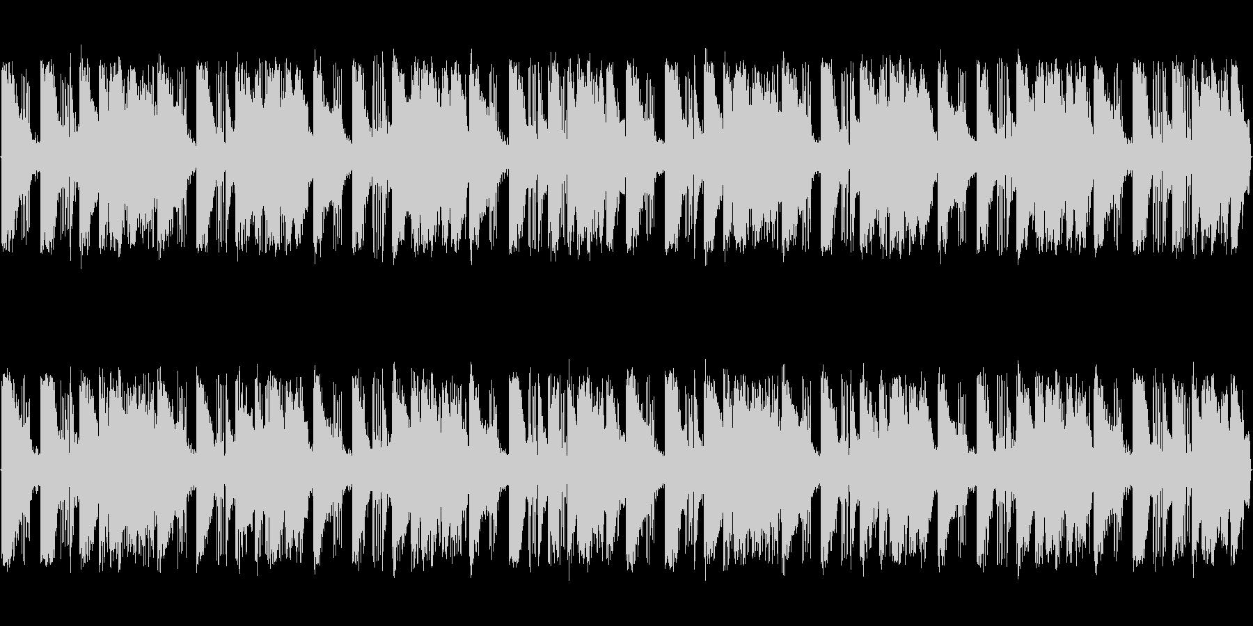 ピアノとブラスによる軽快なBGMの未再生の波形