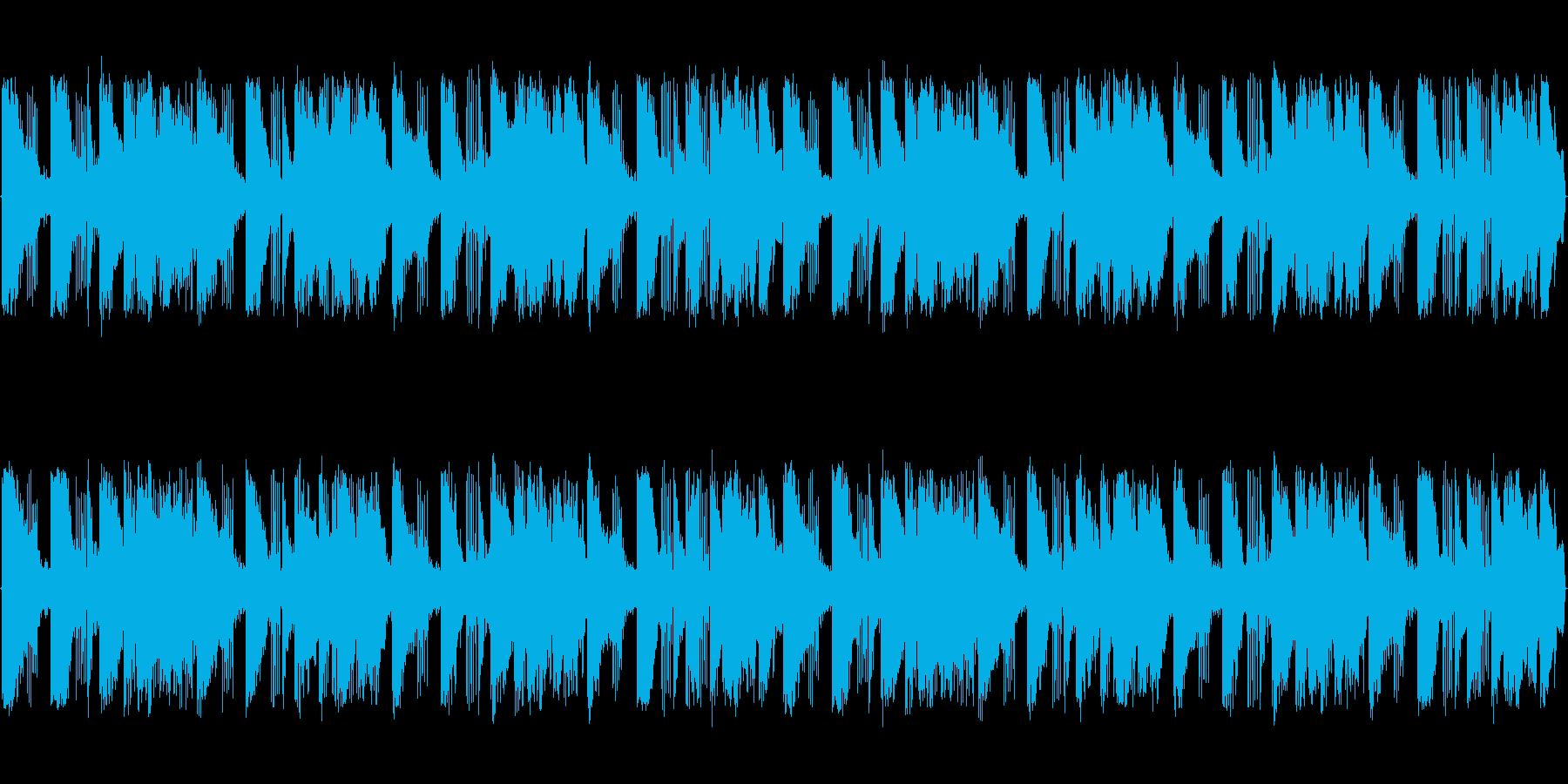 ピアノとブラスによる軽快なBGMの再生済みの波形