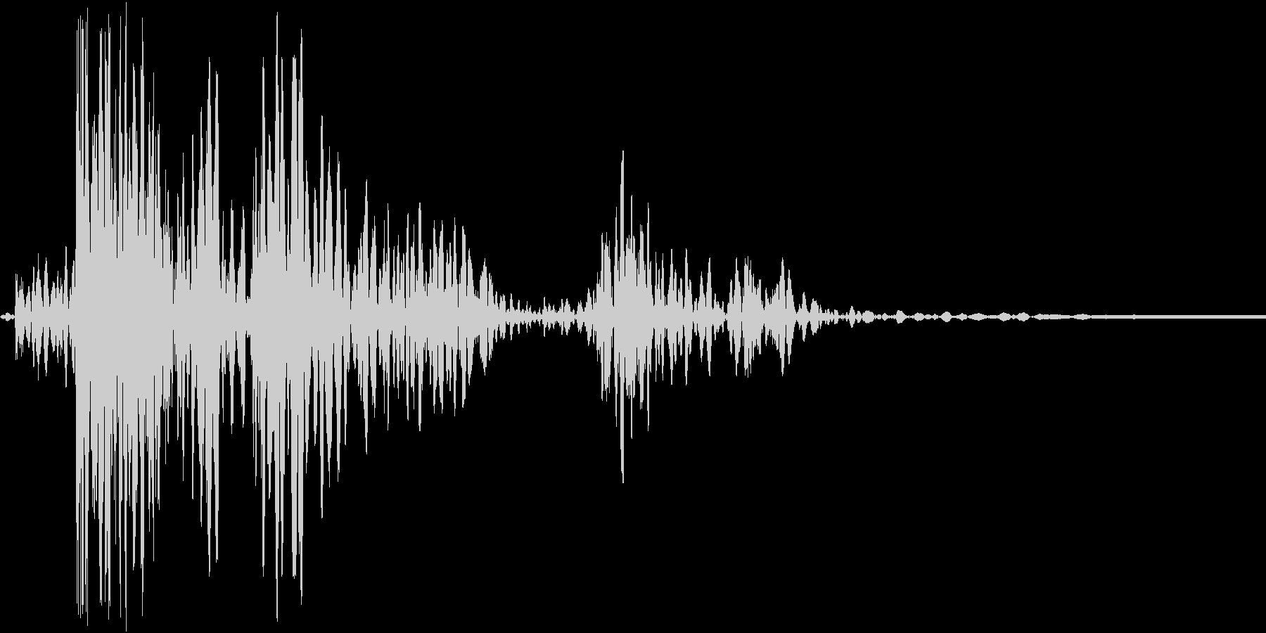 ドタンと何かが落ちる音ですの未再生の波形