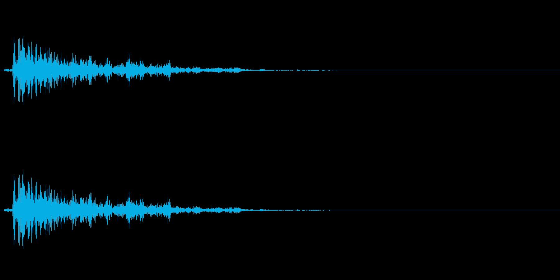 爆発音#3 (1発)の音の再生済みの波形